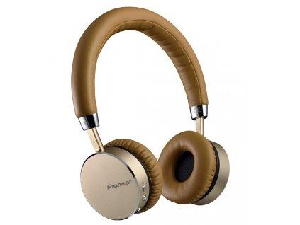 PIONEER SE-MJ561BTT bezdrátový headset přes hlavu/ Hnědý