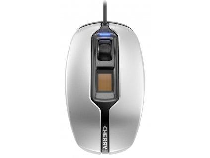 CHERRY myš MC 4900 / drátová / optická / 1375 dpi / čtečka otisků prstů / USB