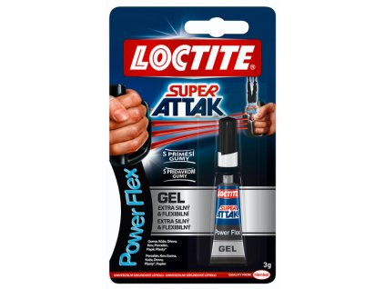 LOCTITE sekundové lepidlo Super Attak Power Flex Gel (3 g)