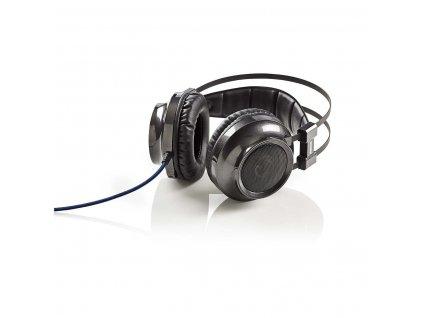 Nedis GHST400BK herní sluchátka / Force Feedback / LED / 3.5 mm + USB