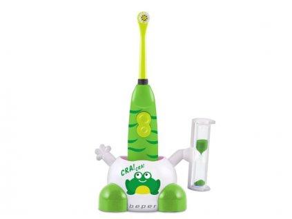 BEPER 40917-V dětský elektrický zubní kartáček, zelený