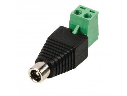 DC konektor zásuvka 5.5 x 2.1 mm s terminálovou svorkovnicí, 5ks (CCTVCF10BK5)