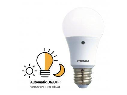 Sylvania ToLEDo LED žárovka E27 8.5W 806lm 2700K, senzor den/noc (0027546)