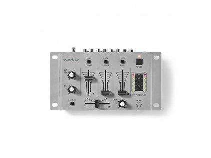 Nedis MIXD050GY mixážní pult, 3 kanálový, crossfader, talkover