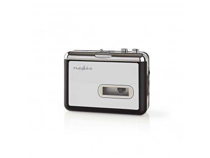 Nedis ACGRU100GY kazetový přehrávač s USB, MP3 konvertor