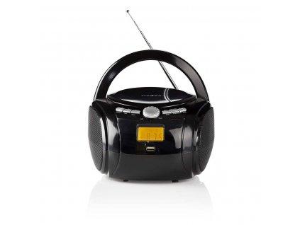 Nedis SPBB100BK přenosný přehrávač 9 W / CD / rádio / Bluetooth / USB / AUX černý