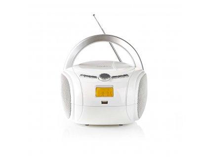 Nedis SPBB100WT přenosný přehrávač 9 W / CD / rádio / Bluetooth / USB / AUX bílý