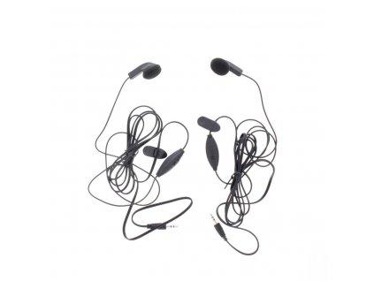 Headset Do ucha 2.5 mm Vestavěný Mikrofon 142 cm Černá