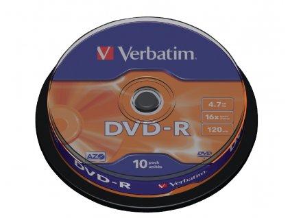 DVD-R Verbatim 4.7 GB - 16x, 10ks-cake (DVDVER00070B)