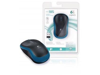 Logitech M185B bezdrátová myš 800 dpi, modrá