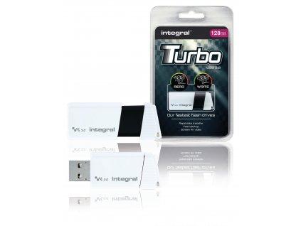 Flash Disk USB 3.0 128 GB Bílá/Černá