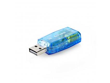 Nedis USB zvuková karta, zvuk 5.1, 3D (USCR10051BU)