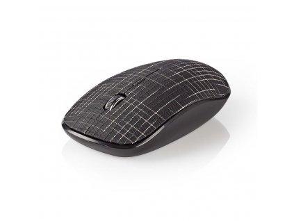 Nedis MSWS500BK bezdrátová myš, 1600 dpi, 3 tlačítka, textil černá