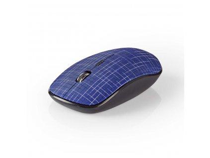 Nedis MSWS500BU bezdrátová myš, 1600 dpi, 3 tlačítka, textil modrá