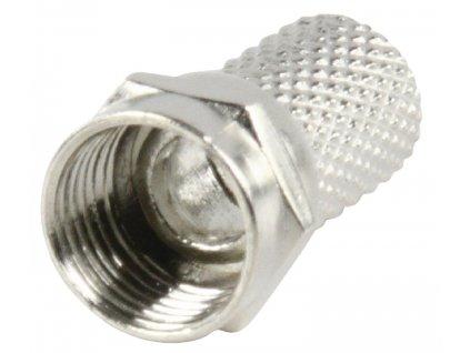 F-Konektor 7.0 mm Zástrčka Kov Stříbrná