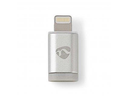 Nedis CCTB39901AL adaptér zástrčka Apple Lightning 8-pin - zásuvka USB Micro B, stříbrný