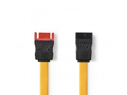 Nedis SATA datový kabel, 6 Gb/s, SATA 7-pin zásuvka - SATA 7-pin zástrčka, 0.5 m, žlutá (CCGP73205YE05)
