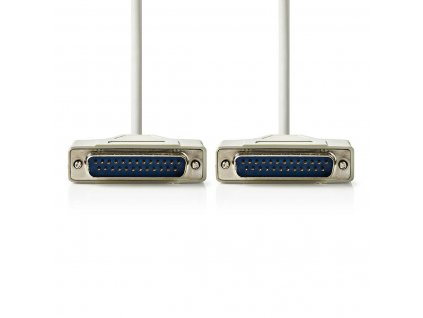 Nedis datový kabel RS232 zástrčka D-Sub 25-pin - zástrčka D-Sub 25-pin, 3 m, slonovinová (CCGP52100IV30)