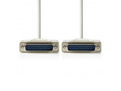 Nedis datový kabel RS232 zástrčka D-Sub 25-pin - zástrčka D-Sub 25-pin, 5 m, slonovinová (CCGP52100IV50)