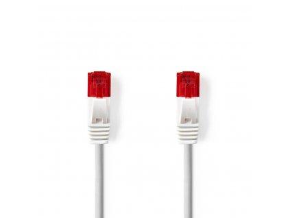 Nedis plochý síťový kabel UTP CAT6, zástrčka RJ45 - zástrčka RJ45, 0.5 m, bílá (CCGP85215WT05)