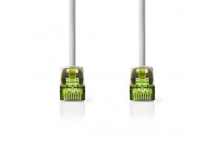 Nedis síťový kabel Cat 7 PiMF, zástrčka RJ45 - zástrčka RJ45, 0.5 m, šedá (CCGP85420GY05)