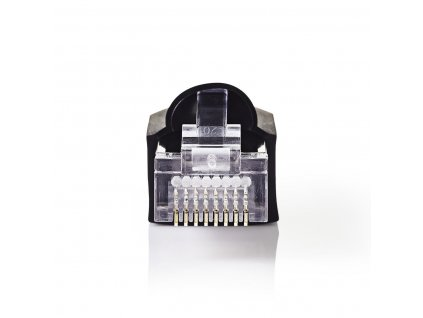 Konektor RJ45 pro CAT5 UTP kabely s drátovými vodiči, 10 ks včetně krytek, černá (CCGP89350BK)