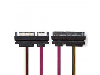 Nedis interní napájecí kabel zástrčka SATA 22-pin - zásuvka SATA 22-pin, 0.5 m (CCGP73125VA05)