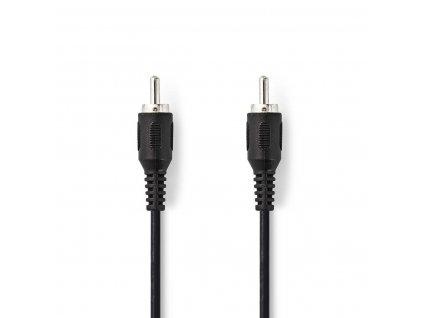 Nedis audio kabel pro subwoofer cinch zástrčka - CINCH zástrčka, 2 m, černá (CAGP24100BK20)