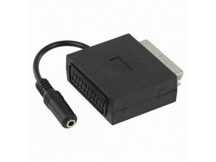 Nedis adaptér SCART - SCART + zásuvka jack 3.5mm, (CVGP31930BK02)
