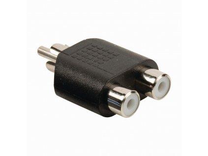 Nedis adaptér pro subwoofer, zástrčka CINCH - 2x zásuvka CINCH (CAGB24940BK)