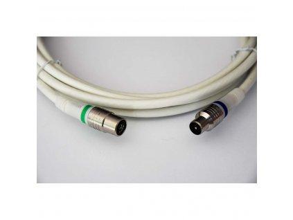 Technetix anténní kabel 105 dB zástrčka Coax - zásuvka Coax, 1.5 m, bílá (TN-RLA10-1.5B)