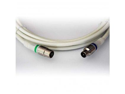Technetix anténní kabel 105 dB zástrčka Coax - zásuvka Coax, 5 m, bílá (TN-RLA10-5.0B)