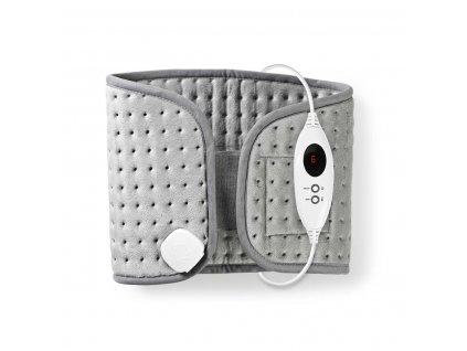 Nedis PEHP112CGY nahřívaný bederní pás, 69 x 28 cm, 6 nastavení teploty, digitální ovládání, ochrana proti přehřátí