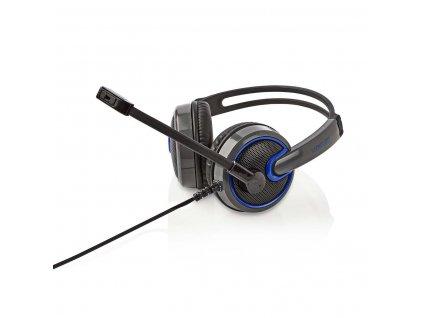 Nedis GHST200BK herní sluchátka s mikrofonem, regulace hlasitosti, jack 3.5 mm