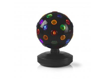 Nedis FUDI213BK barevná rotující disco koule, 20 cm, 6 W, 550 lm