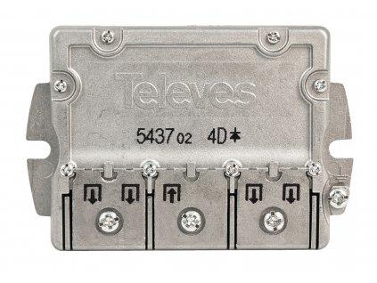 Televés F3145437 pasivní anténní rozbočovač 8 dB - 4x výstup