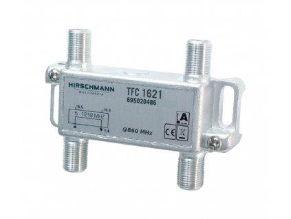 Hirschman TFC1621 CATV rozbočovač 1.7 dB / 5 - 1218 MHz - 2 x výstup