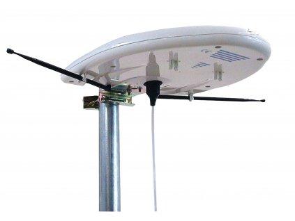 DVB-T/T2 - DAB+ Venkovní Anténa se Zesilovačem 20 dB FM / VHF / UHF