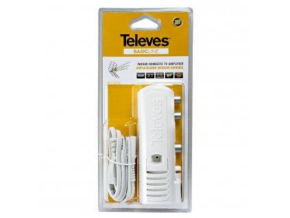 CATV Zesilovač 22 dB 47-694 MHz 2 Výstupy