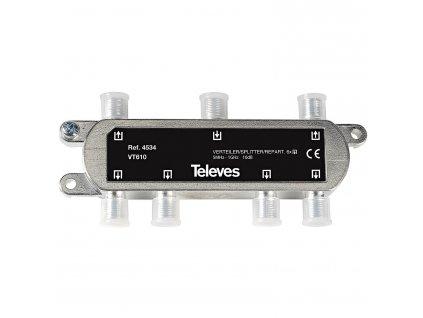 Televés F3144534 CATV rozbočovač 10 dB / 5-1000 MHz - 6 x výstup