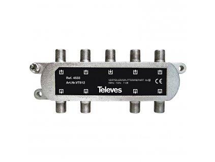 Televés F3144533 CATV rozbočovač 11 dB / 5-1000 MHz - 8 x výstup