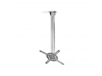 Nedis PJCM200GY stropní držák projektoru full motion 360°, 550-1000 mm, 10 kg, stříbrná