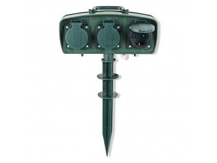 Nedis EXGS20 zahradní sloupek s hrotem, IP44, 1.5 m, 3 zásuvky schukko