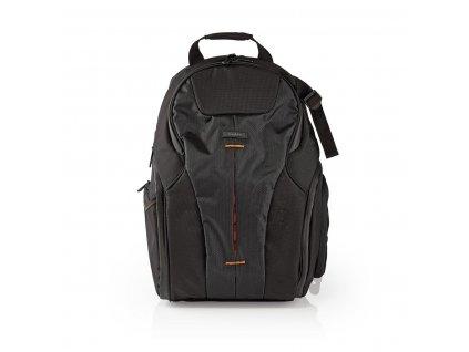 Nedis CBAG400BK batoh pro zrcadlovky a ultrazoomy, 290 × 410 × 150 mm, 10 kapes, černá/oranžová