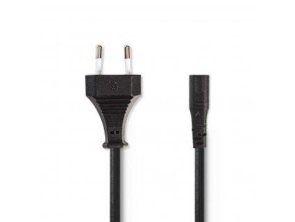 Nedis kabel zástrčka EURO - IEC320 C1, černá, 2 m (PCGP11062BK20)