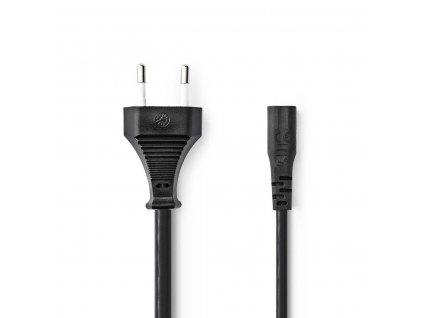Nedis kabel zástrčka EURO - IEC320 C1, černý, 2 m (PCGP11060BK20)
