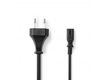 Nedis napájecí kabel zástrčka EURO - IEC320 C7, 0.5 m, černá (PCGP11040BK05)