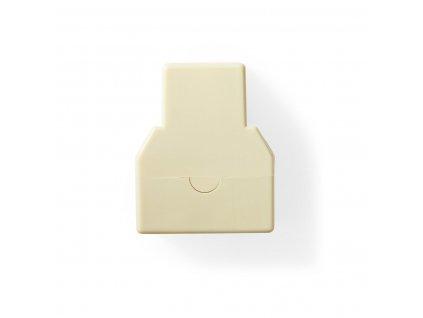 Nedis telefonní rozbočovač zásuvka RJ11 - 2x zásuvka RJ11, slonová kost (TCGP90990IV)