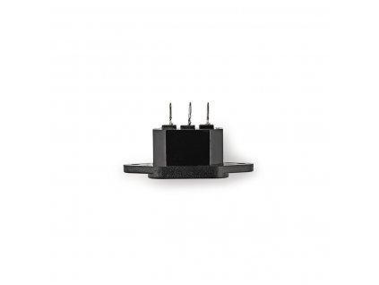 Konektor napájecí síťový 230 V IEC-320-C14 panelová zástrčka černá (PCGP11950B)