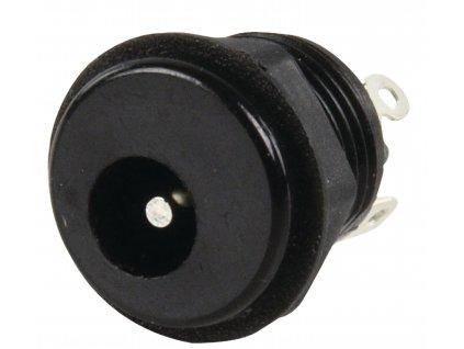 Konektor DC souosý napájecí zástrčka 2.35/6.3 mm, panelová (LUM-NEBJ25C)